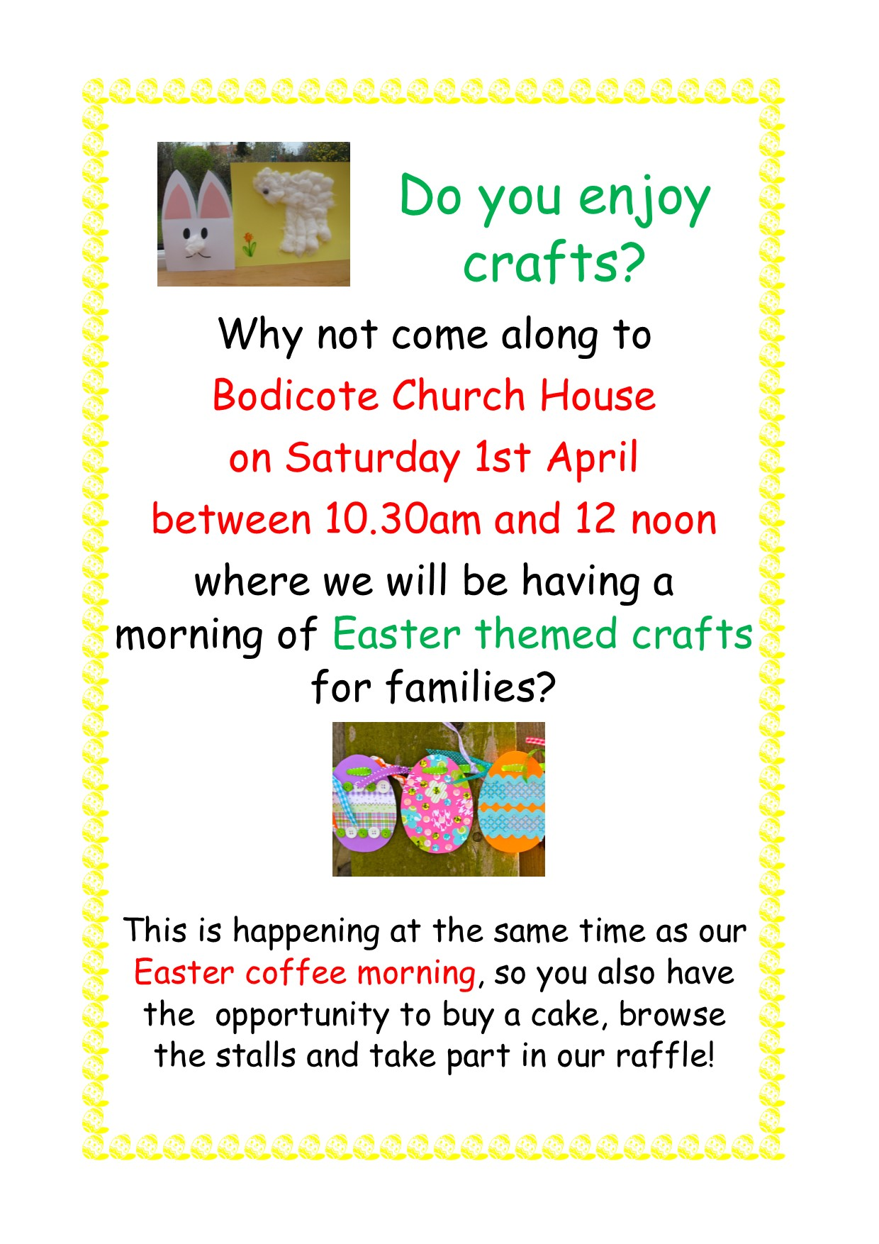 Easter crafts poster