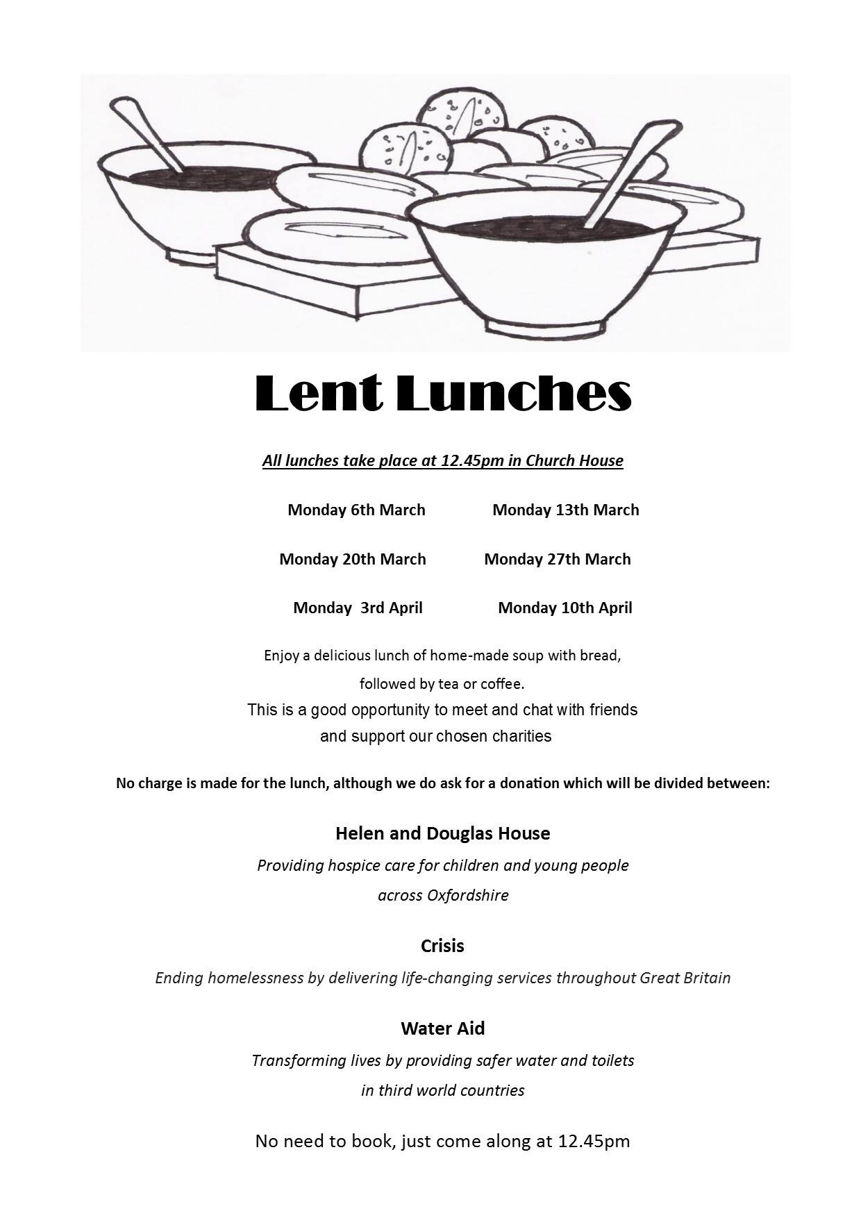 Lent lunches poster