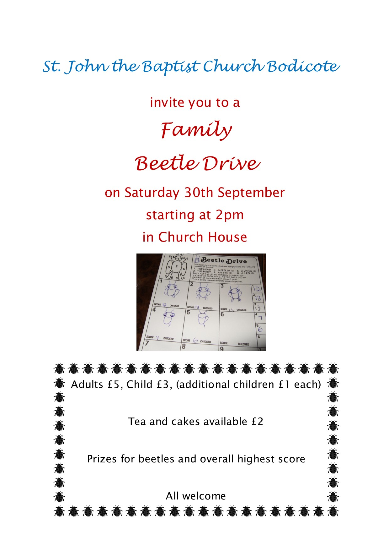 Beetle drive poster for FB